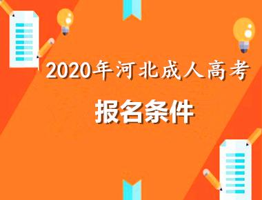 2020年河北成人高考报名条件